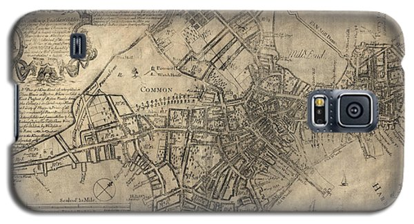 Antique Map Of Boston By William Price - 1769 Galaxy S5 Case by Blue Monocle