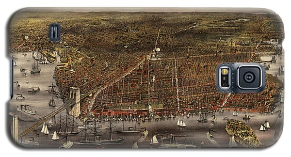 Antique Map Of Brooklyn By Currier And Ives - Circa 1879 Galaxy S5 Case