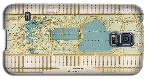 Antique Map Of Central Park New York City By Oscar Hinrichs - 1875 Galaxy S5 Case