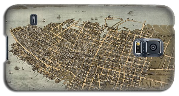 Antique Map Of Charleston South Carolina By C. N. Drie - 1872 Galaxy S5 Case by Blue Monocle
