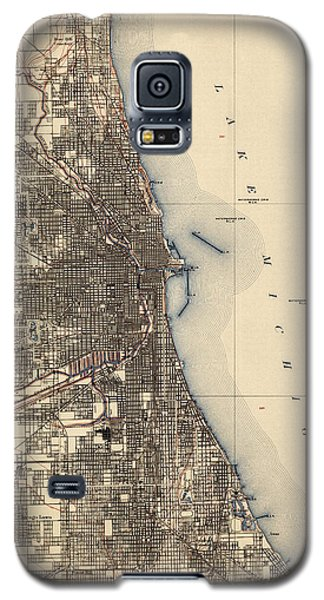 Antique Map Of Chicago - Usgs Topographic Map - 1901 Galaxy S5 Case by Blue Monocle
