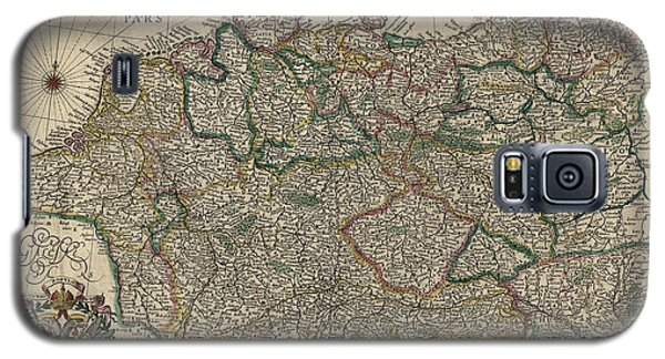 Galaxy S5 Case featuring the drawing Antique Map Of Germany By Willem Janszoon Blaeu - 1647 by Blue Monocle