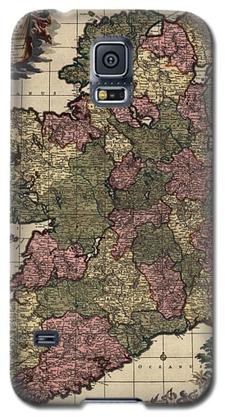 Antique Map Of Ireland By Frederik De Wit - Circa 1700 Galaxy S5 Case by Blue Monocle