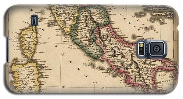 Antique Map Of Italy By Fielding Lucas - Circa 1817 Galaxy S5 Case by Blue Monocle
