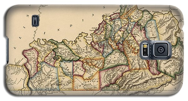 Antique Map Of Kentucky By Fielding Lucas - Circa 1817 Galaxy S5 Case by Blue Monocle
