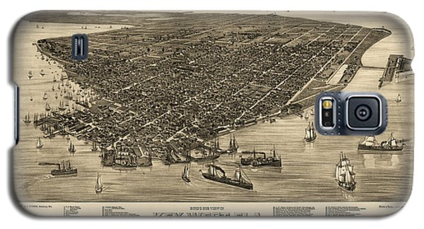 Antique Map Of Key West Florida By J. J. Stoner - 1884 Galaxy S5 Case by Blue Monocle