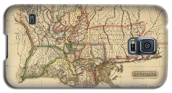 Antique Map Of Louisiana By Fielding Lucas - Circa 1817 Galaxy S5 Case by Blue Monocle