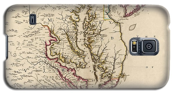 Antique Map Of Maryland And Virginia By John Senex - 1719 Galaxy S5 Case by Blue Monocle