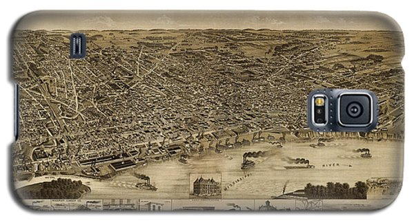 Antique Map Of Memphis Tennessee By H. Wellge - 1887 Galaxy S5 Case by Blue Monocle