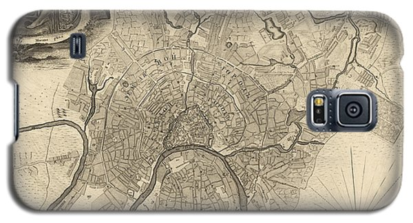 Antique Map Of Moscow Russia By Ivan Fedorovich Michurin - 1745 Galaxy S5 Case by Blue Monocle
