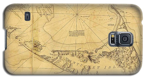 Antique Map Of Nantucket Galaxy S5 Case