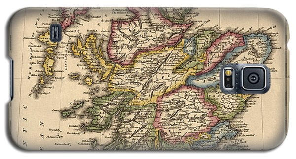 Antique Map Of Scotland By Fielding Lucas - Circa 1817 Galaxy S5 Case by Blue Monocle