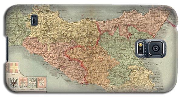 Antique Map Of Sicily Italy By Antonio Vallardi - 1900 Galaxy S5 Case