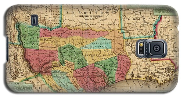 Antique Map Of Texas By James Hamilton Young - 1835 Galaxy S5 Case by Blue Monocle