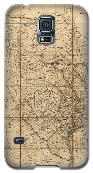 Antique Map Of Texas By John Arrowsmith - 1841 Galaxy S5 Case by Blue Monocle