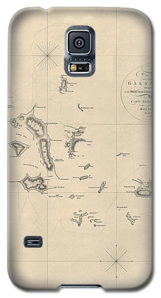 Antique Map Of The Galapagos Islands By James Colnett - 1798 Galaxy S5 Case