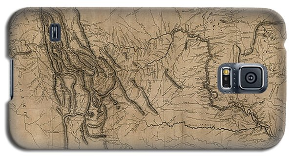 Antique Map Of The Lewis And Clark Expedition By Samuel Lewis - 1814 Galaxy S5 Case by Blue Monocle