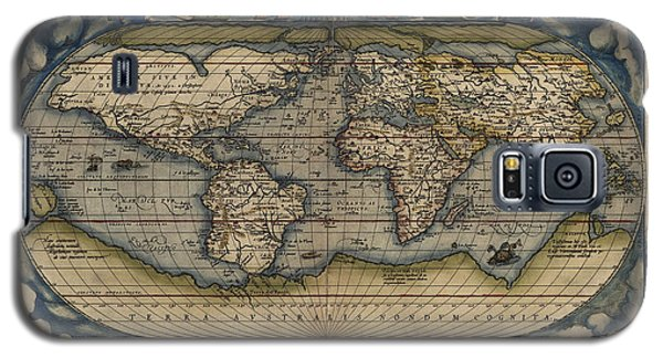 Antique Map Of The World By Abraham Ortelius - 1570 Galaxy S5 Case by Blue Monocle