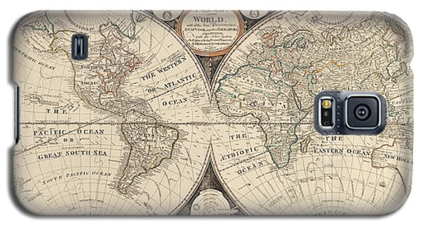 Antique Map Of The World By Thomas Kitchen - 1799 Galaxy S5 Case
