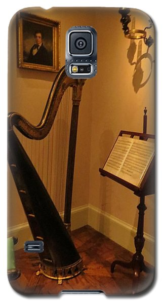 Galaxy S5 Case featuring the photograph Antique Music Room by Jeanette Oberholtzer