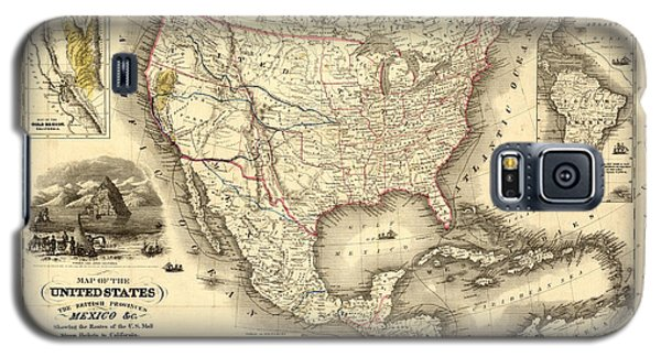 Antique North America Map Galaxy S5 Case
