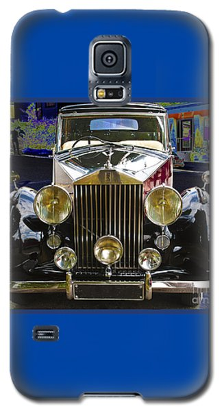 Galaxy S5 Case featuring the digital art Antique Rolls Royce by Victoria Harrington