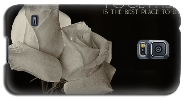 Antique Roses With Message Galaxy S5 Case