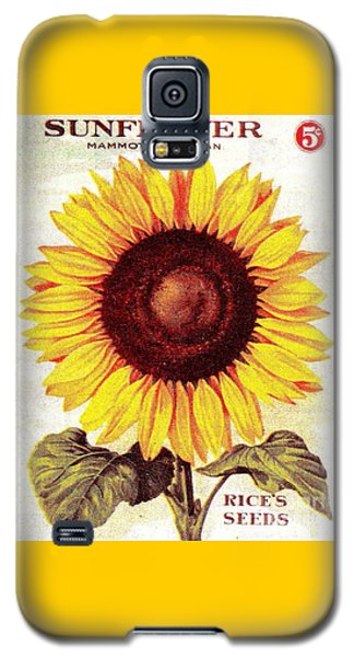 Antique Sunflower Seeds Pack Galaxy S5 Case