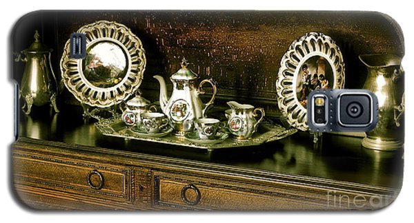 Antique Tea Set Galaxy S5 Case by The Art of Alice Terrill