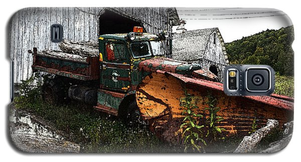 Antique Truck With Plow Galaxy S5 Case