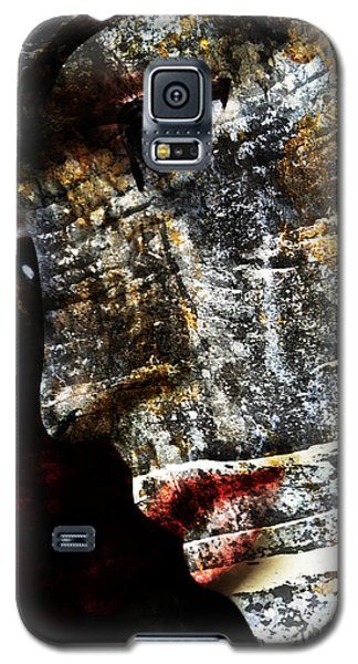 Galaxy S5 Case featuring the drawing Anxiety by Selke Boris