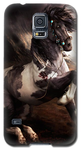 Galaxy S5 Case featuring the digital art Apache Blue by Shanina Conway