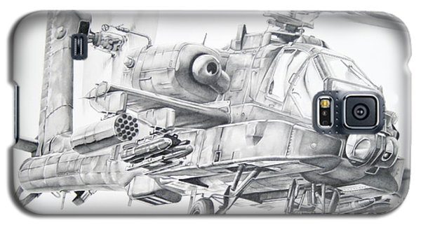Helicopter Galaxy S5 Case - Apache by James Baldwin Aviation Art