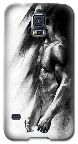 Galaxy S5 Case featuring the drawing Apart by Paul Davenport