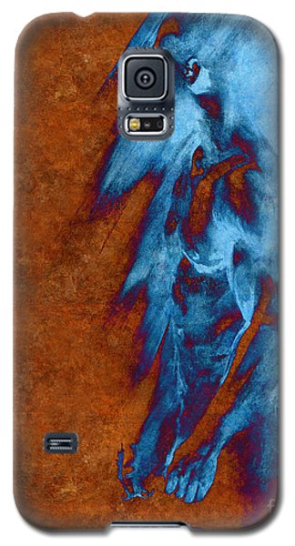 Galaxy S5 Case featuring the drawing Apart With Mood Texture by Paul Davenport