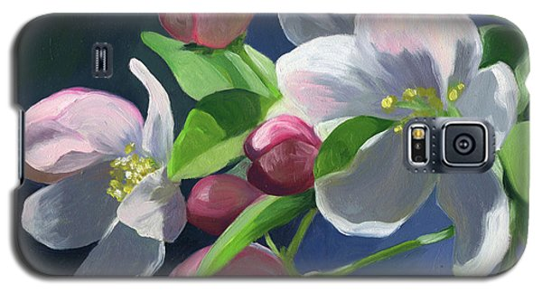 Galaxy S5 Case featuring the painting Apple Blossom by Alecia Underhill