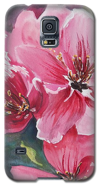 Galaxy S5 Case featuring the painting Apple Blossoms 2 by Betty-Anne McDonald