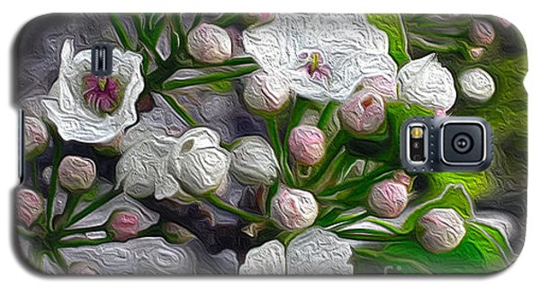 Galaxy S5 Case featuring the photograph Apple Blossoms In Oil by Nina Silver