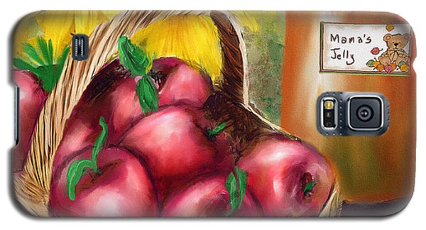Galaxy S5 Case featuring the digital art Apple Harvest by Mary Almond