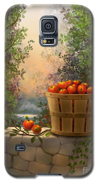 Galaxy S5 Case featuring the painting Apple Harvest by Sena Wilson