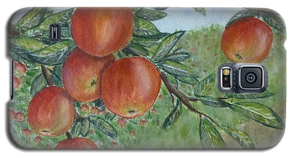 Galaxy S5 Case featuring the painting Apple Orchard by Kelly Mills