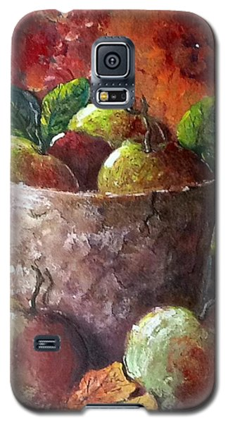 Galaxy S5 Case featuring the painting Apple Picking Time by Megan Walsh
