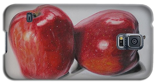 Galaxy S5 Case featuring the pastel Apple Study by Wil Golden