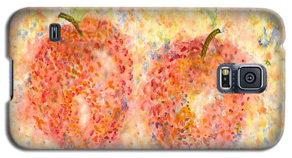 Galaxy S5 Case featuring the painting Apple Twins by Paula Ayers