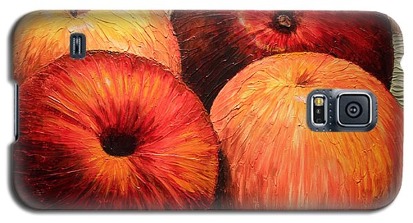 Galaxy S5 Case featuring the painting Apples And Oranges by Joey Agbayani