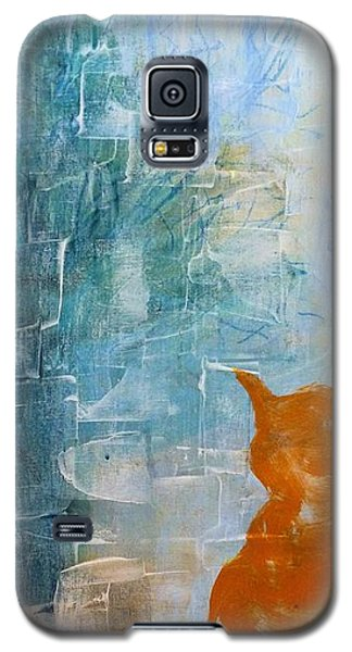 Appleskin Cat Galaxy S5 Case by Susan Fisher