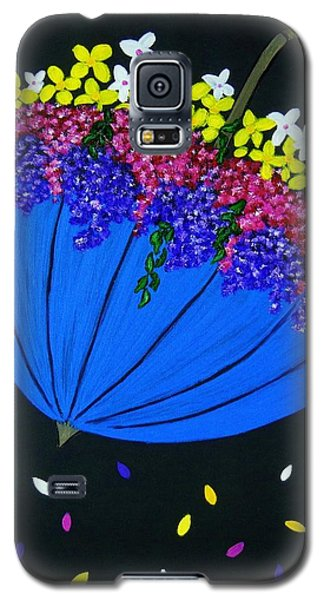 Galaxy S5 Case featuring the painting April Showers... by Celeste Manning