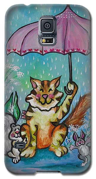 Galaxy S5 Case featuring the painting April Showers by Leslie Manley