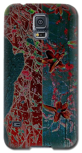 Galaxy S5 Case featuring the painting April Showers/ May Flowers by Jacqueline McReynolds