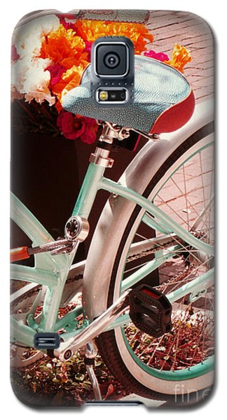 Galaxy S5 Case featuring the digital art Aqua Bicycle by Valerie Reeves